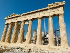 The famed Parthenon in Athens is one of the sites visited on a Louis Cristal cruise.