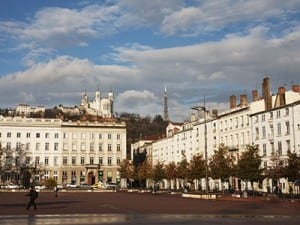 Place Bellecour serves as Lyon's central square.