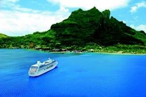 Princess Cruises photo of ship at Bora Bora- Courtesy Photo