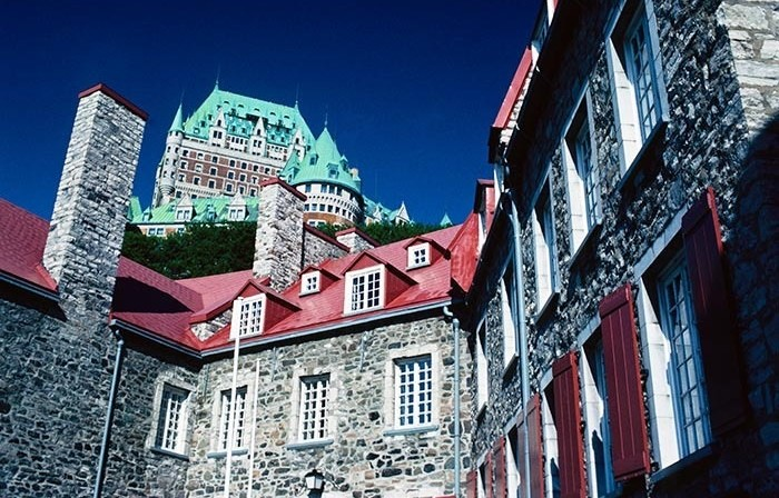 Canada: Chateau Frontenac Hotel above Old Quebec City Musee