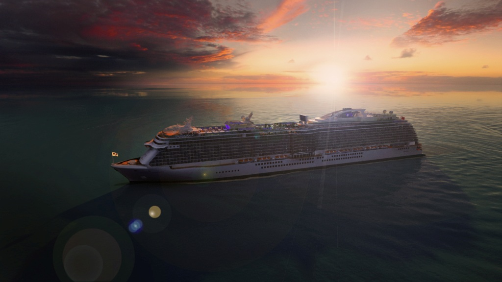 Royal Princess, launching in June 2013- Image courtesy of Princess Cruises
