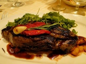 The 10 oz. steak at Sabatini's seemed to be much larger. Portion sizes definitely don't disappoint in the Italian eatery.