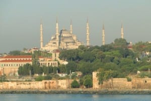 Sailing into Istanbul, the Blue Mosque is one of the first landmarks that can be seen.