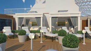 The Sanctuary aboard the Royal Princess.  Image courtesy of Princess Cruises