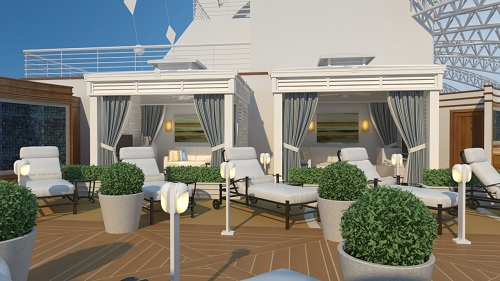The Sanctuary onboard the Royal Princess.  Image courtesy of Princess Cruises.