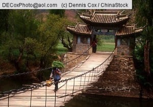 Shigu villiage suspension bridge-Lijiang, Yunnan, China