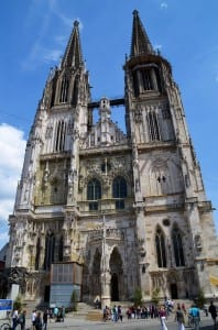 St. Peter's cathedral is a highlight of Regensberg, Germany