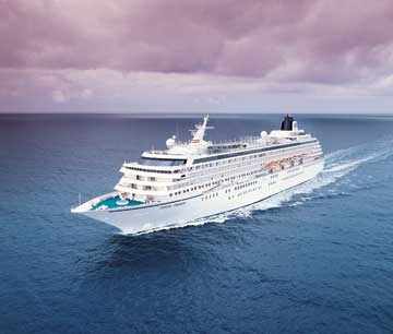 Crystal Cruises has two ships in the top 10 luxury picks.  Image courtesy of Crystal Cruises.
