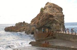 The rocky shoreline of Tenerife