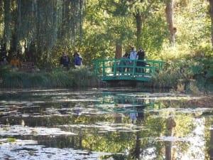 The Japanese Bridge over the pond in Monet's Garden