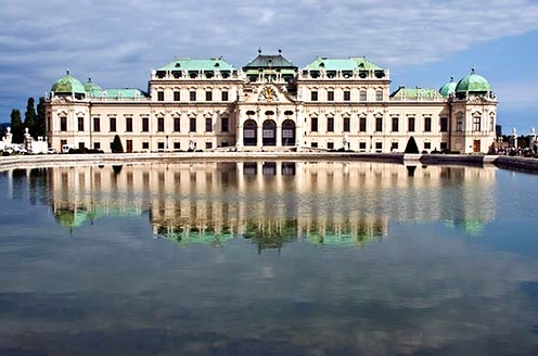 One of the stops on the knitting cruise is Vienna, Austra, which features the beautiful Beleveder Palace.  Image courtesy of DennisCox.com