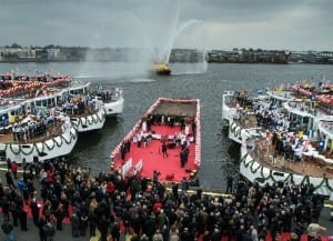 The March 2013 christening ceremony- Image courtesy of Viking River Cruises