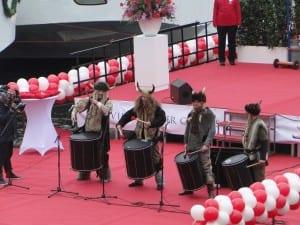 Vikings on Drums at Viking Christening 2013