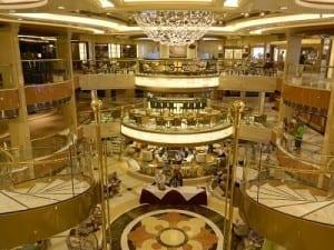 The grand atrium on Royal Princess
