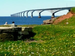 It takes about 10 minutes by car to cross the long Confederation Bridge to mainland Canada from Prince Edward Island.