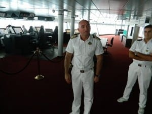 Captain Dino Sagani hosts a bridge tour