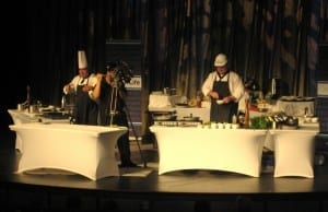 On-stage cooking demo