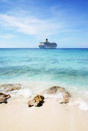 Cruise Ship near Beach