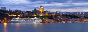 Crystal Serenity plans to dock near downtown Québec City, where Crystal Symphony has enjoyed prime views during its previous years' visits. Photo courtesy of Crystal Cruises