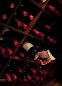 Selecting wine for a Crystal Vintage Room Dinner (courtesy photo)