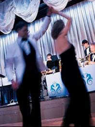 Dancing to the orchestra on board Crystal. Photo courtesy of Crystal Cruises