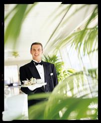 Crystal's luxury service (Photo courtesy of Crystal Cruises)