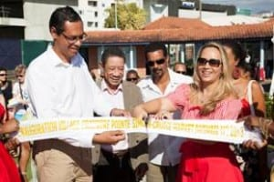 Ribbon cutting ceremony with Hon. Karine Roy-Camille, Martinique Tourism Commissioner