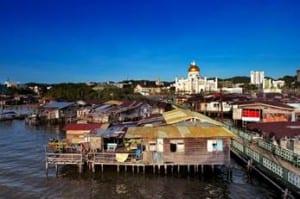 Water village in Bandar Seri Begawan, Brunei. (Photo courtesy of Crystal Cruises)