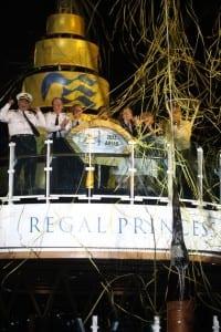 Naming ceremony of the new Regal Princess (Photo courtesy of Princess Cruises)
