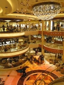 The Piazza is Royal Princess' stunning lobby and is a hub of activity all day long.