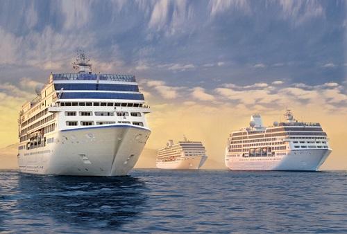 R-class ships, the Insignia, Regatta and Nautica.  Image courtesy of Oceania Cruises.