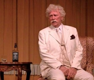 The American Queen presents Lewis Hankins as Mark Twain.