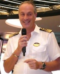 MSC Divina Captain Francesco Veniero says it is a 'dream come true.'