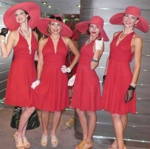 A band of divas helps MSC Divina celebrate her  inaugural cruise from Miami home base.
