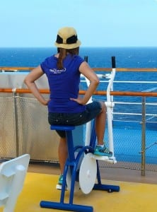 A beautiful scene for exercising aboard the Carnival Magic.