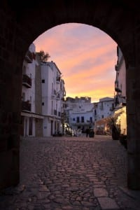 Sunset over Ibiza's old town—one of Crystal Cruises' 2014 European maiden calls. Photo courtesy of Crystal Cruises