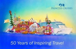 A rendering of Princess Cruises' first-ever Rose Parade float.