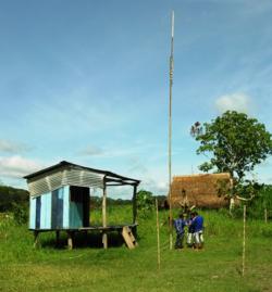 Village radio station under repair