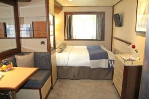 A showcase stateroom of what the enhancements will be on Wind Star. (Photo courtesy of Windstar Cruises)