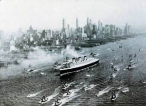 Queen Mary visits New York  (Credit: Cunard)