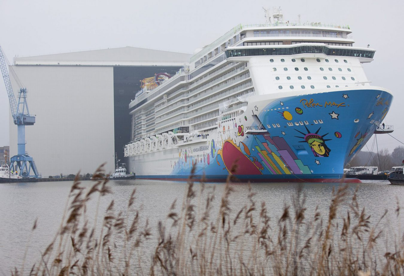 Norwegian Breakaway The Largest Ship Ever Constructed In Germany Floats Out