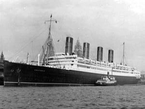 Aquitania in Liverpool (Credit: Cunard)