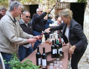 A festive wine tasting